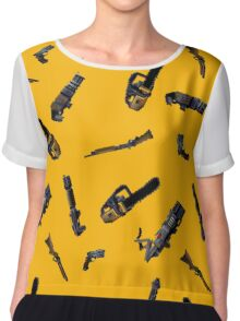 Doom Weapon Pattern Chiffon Top