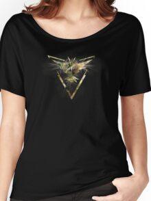 Pokemon GO: Team Instinct (Lightning Design III) - Yellow Team Women's Relaxed Fit T-Shirt