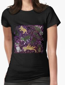 Space Kittens Womens Fitted T-Shirt