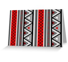 Southwestern Geometric, Red & Gray Greeting Card
