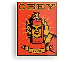 Obey Giant Metal Print