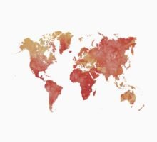 World map in watercolor One Piece - Long Sleeve