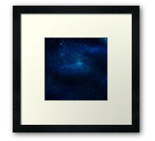 Galaxy Texture Framed Print