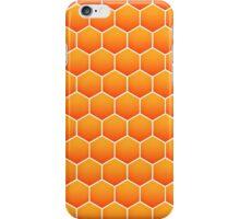 Orange honeycomb pattern iPhone Case/Skin