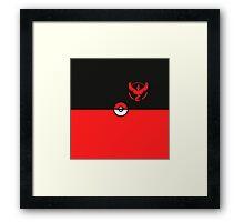 Red Team Pokemon Go Framed Print