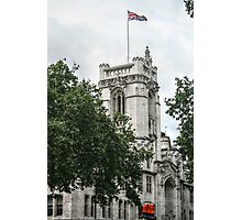 Union Jack Flying Over Westminster Abbey Photographic Print