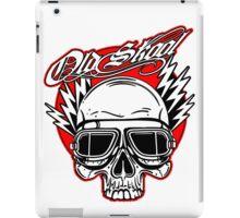Old Skool Skull design in red iPad Case/Skin