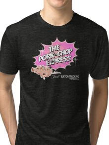 Pork Chop Express - Distressed Light Pink Variant Tri-blend T-Shirt
