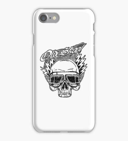 Old Skool Skull Design in grey iPhone Case/Skin