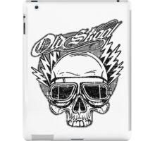 Old Skool Skull Design in grey iPad Case/Skin