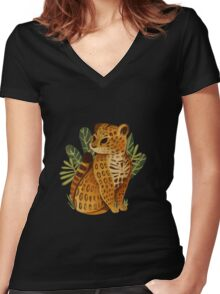 Jaguar Women's Fitted V-Neck T-Shirt