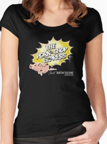 Pork Chop Express - Distressed Yellow Variant Women's Fitted Scoop T-Shirt