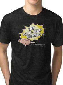 Pork Chop Express - Distressed Yellow Variant Tri-blend T-Shirt