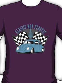 VW Beetle Classic Not Plastic Design T-Shirt