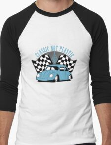 VW Beetle Classic Not Plastic Design Men's Baseball ¾ T-Shirt