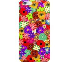 Colorful floral illustration iPhone Case/Skin
