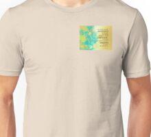 Serenity Prayer Blue Gold Flowers Unisex T-Shirt