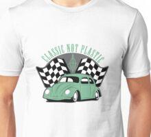 VW Beetle Classic Not Plastic Design in green Unisex T-Shirt