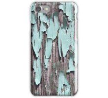 Blue peeling paint iPhone Case/Skin