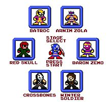Captain America Screen Select (Megaman Style) by groundhog7s