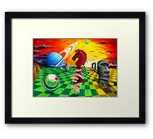 Props on Artificial Landscape Framed Print