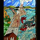 Stained glass artwork, Mossel Bay, South Africa by Margaret  Hyde