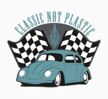 VW Beetle Classic Not Plastic Design in turquoise by UncleHenry