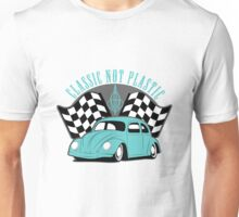 VW Beetle Classic Not Plastic Design in turquoise Unisex T-Shirt