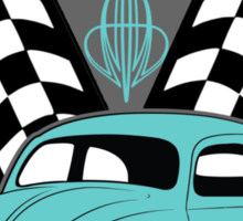 VW Beetle Classic Not Plastic Design in turquoise Sticker