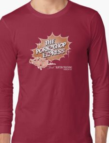 Pork Chop Express - Distressed Mocha Variant Long Sleeve T-Shirt