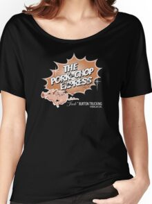Pork Chop Express - Distressed Mocha Variant Women's Relaxed Fit T-Shirt