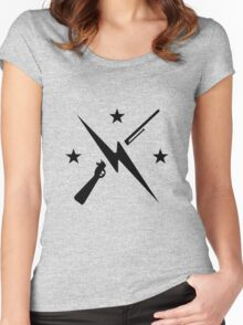 Minutemen Logo (black) - Fallout 4 Women's Fitted Scoop T-Shirt