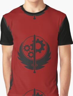 Brotherhood of Steel Emblem (Black) Graphic T-Shirt