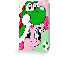 Yoshi and Pinkie Greeting Card