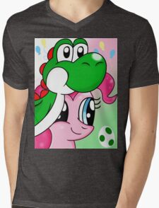 Yoshi and Pinkie Mens V-Neck T-Shirt