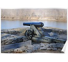 The Confederate River Batteries, Fort Donelson, Dover, TN Poster