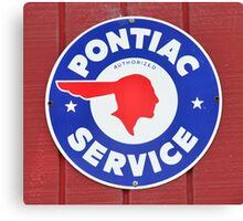 Pontiac Service sign Canvas Print