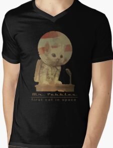 Mr. Pebbles - The first cat in space! Mens V-Neck T-Shirt