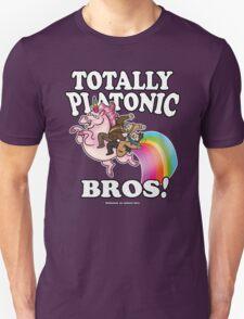 TOTALLY Platonic Bros!! *Definitely No Subtext Here Unisex T-Shirt