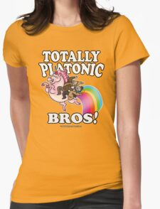 TOTALLY Platonic Bros!! *Definitely No Subtext Here Womens Fitted T-Shirt