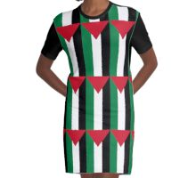 Palestinian Flag Repeating Graphic T-Shirt Dress