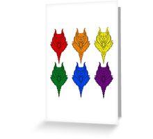 Wolf Pride - Rainbow Greeting Card