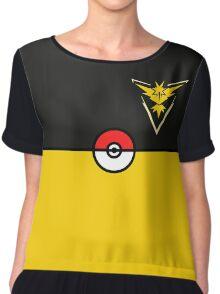 Yellow Team Pokemon Go Chiffon Top