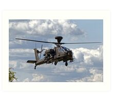 British Army Air Corps WAH-64D Longbow Apache AH1 Helicopter Art Print