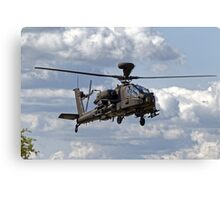 British Army Air Corps WAH-64D Longbow Apache AH1 Helicopter Canvas Print