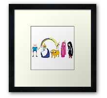 Adventure Character Framed Print