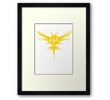 Team Instinct, Team Yellow, Pokemon GO, Pokemon, Zapdos Framed Print