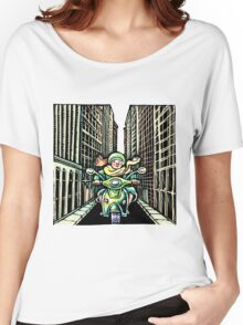 Woman on Vespa in New York Women's Relaxed Fit T-Shirt