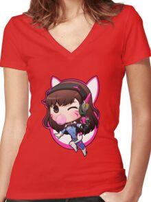 D. VA overwatch Women's Fitted V-Neck T-Shirt