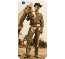 A cowboy and his horse iPhone Case/Skin